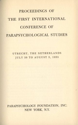 Frontispiece of the Proceedings of the First Utrecht Conference held in 1953